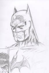 Batman Scowl Pencils
