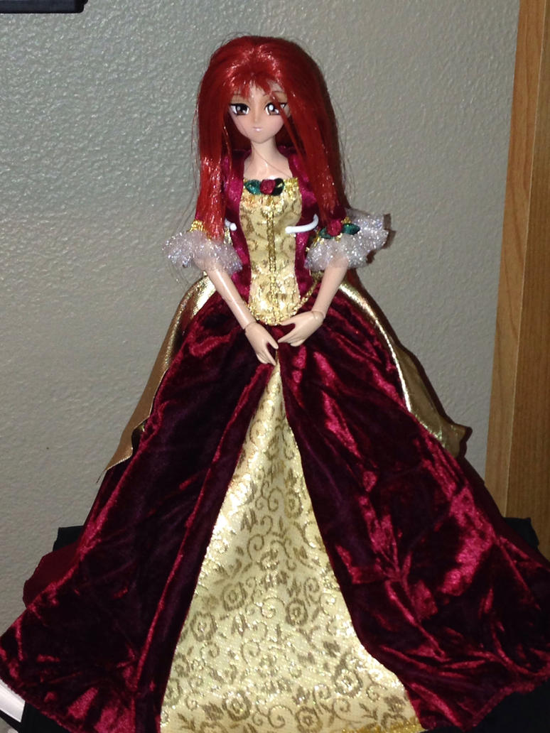 Vampire serenity red gown by floraiji30