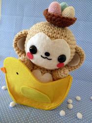 Easter Monkey Amigurumi by cuteamigurumi