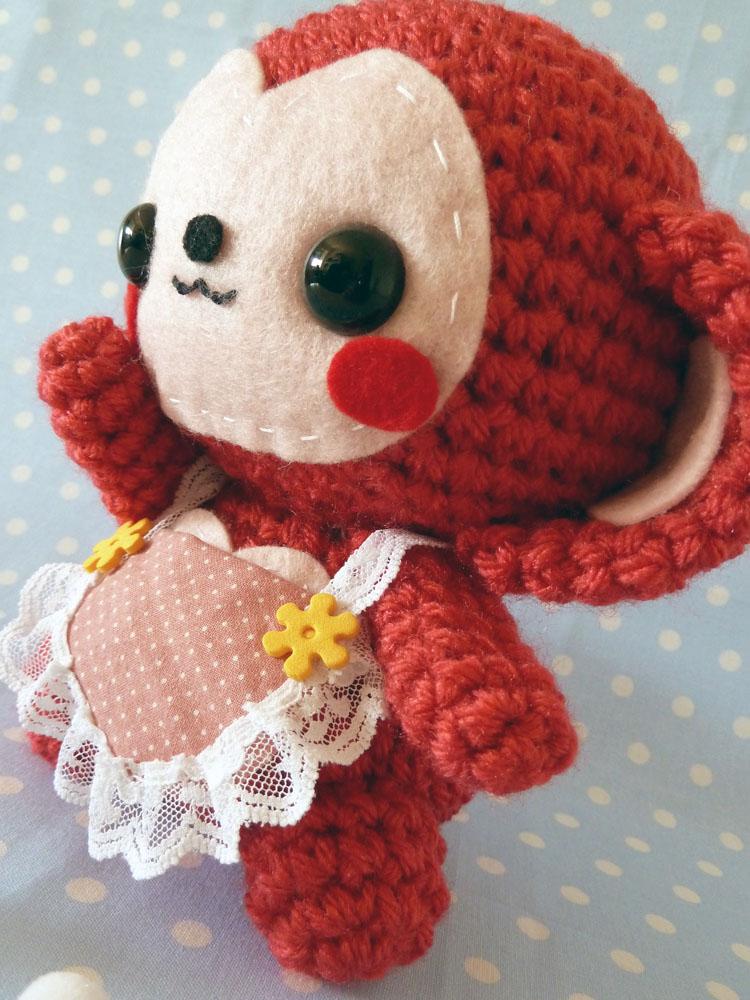 Kawaii Monkey Amigurumi : Mothers Day monkey amigurumi by cuteamigurumi on DeviantArt