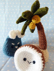 Island and Coconut Amigurumi by cuteamigurumi