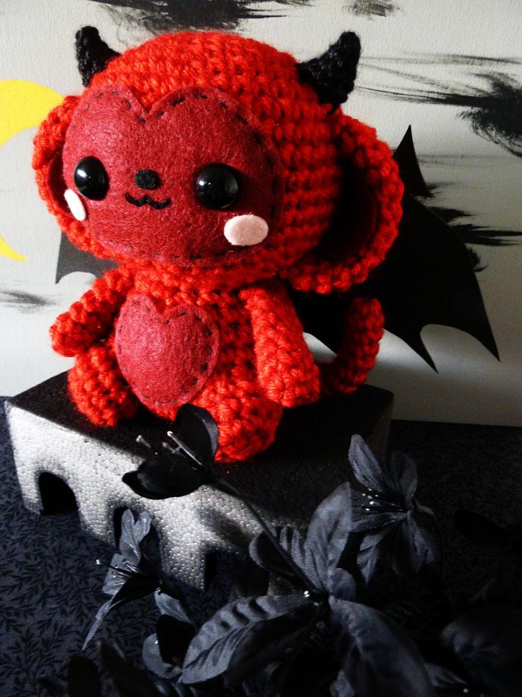 Devil Monkey Amigurumi by cuteamigurumi