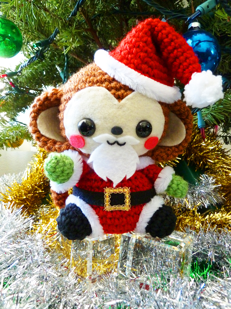 Santa Claus Monkey Amigurumi by cuteamigurumi