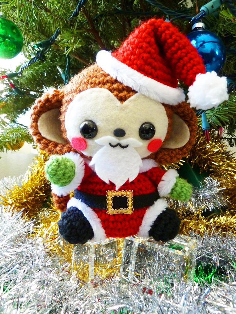 Santa Claus Monkey Amigurumi by cuteamigurumi