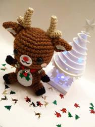 Rudolph Reindeer Amigurumi