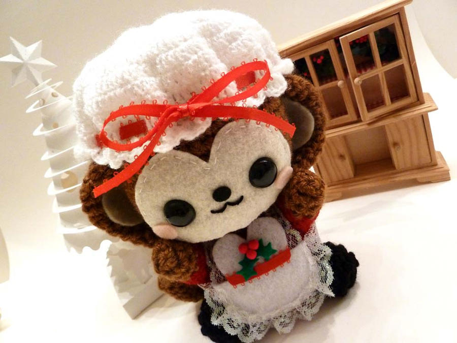 Mrs Claus Christmas Monkey Amigurumi by cuteamigurumi