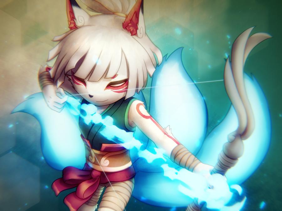 Fox Spirit Yumiko [speedpaint] by kuropapu