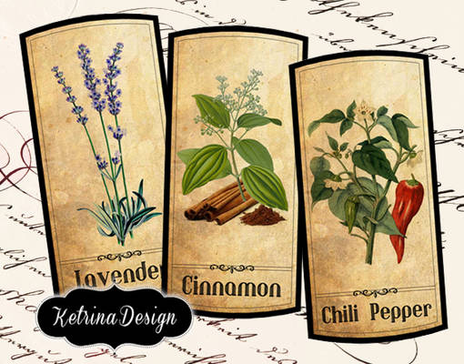 Vintage Herbal Apothecary Labels