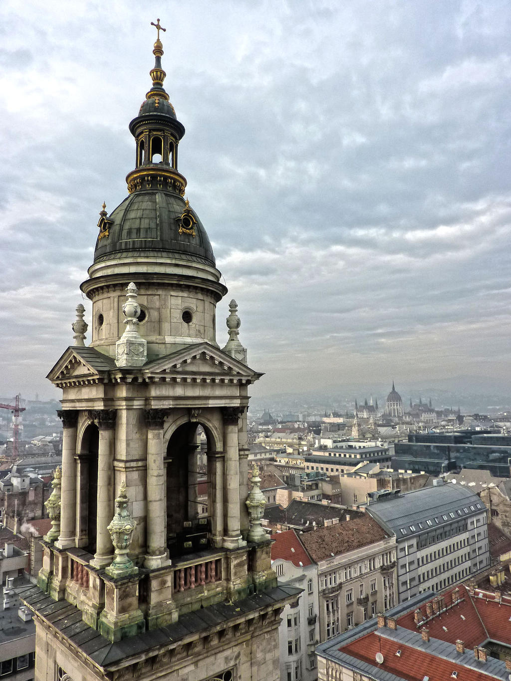 On the roof of the basilica