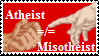 Atheist does not mean misotheist by AtheosEmanon