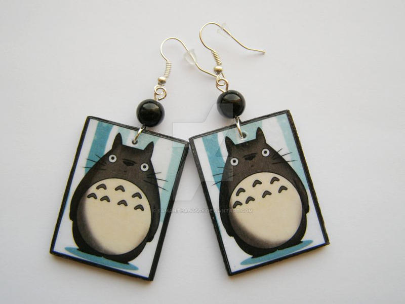 Sweet Totoro Earrings by SamanthaBossy