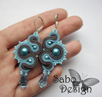 BLUE DRAGONS - soutache earrings by SamanthaBossy