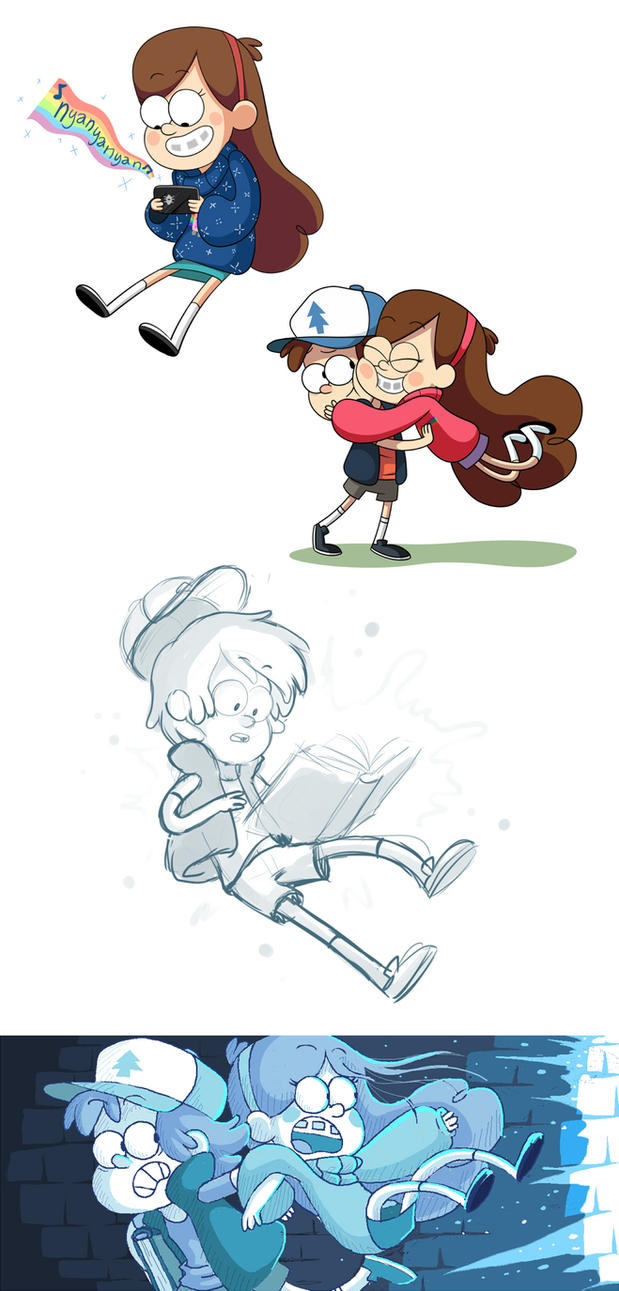 gravity falls01 by albadune
