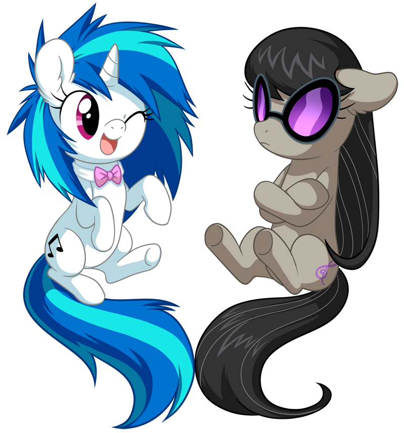 vinyl_and_octavia_by_albadune-d5hky5i.pn