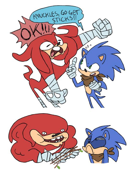 Sonic Boom - Sticks by albadune