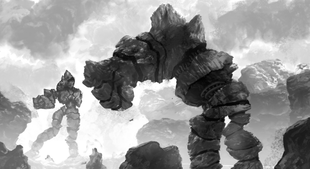 Mountain-trolls in love by miguelrobledo