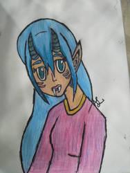 Roxy the Oni coloured