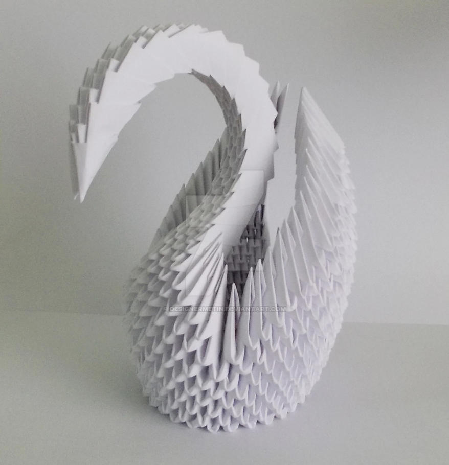 3d Origami White Swan By Designermetin On Deviantart