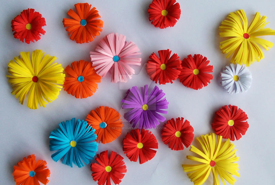 3d Origami Paper Flowers By Designermetin On Deviantart
