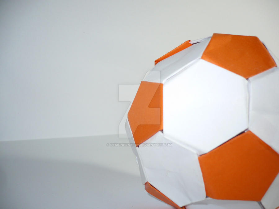 Illustration Of Abstract Paper Origami Soccer Ball Isolated On ... | 675x900