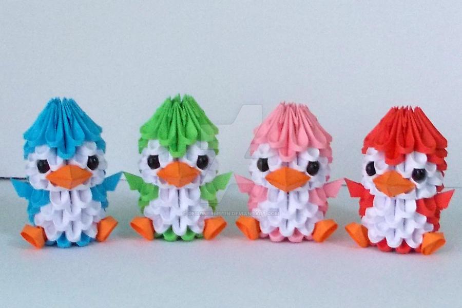 3D Origami Penguin By Designermetin