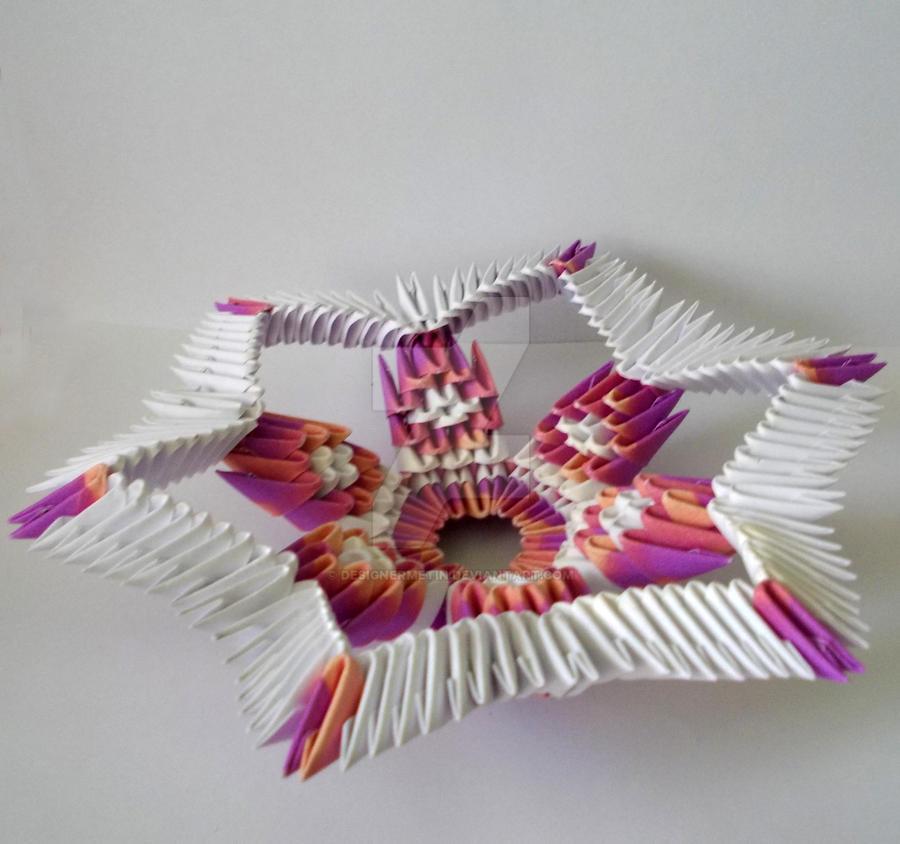 3d Origami Star By Designermetin On Deviantart