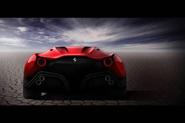 Ferrari CascoRosso-rear by DejanHristov
