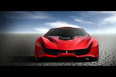Ferrari CascoRosso-front by DejanHristov