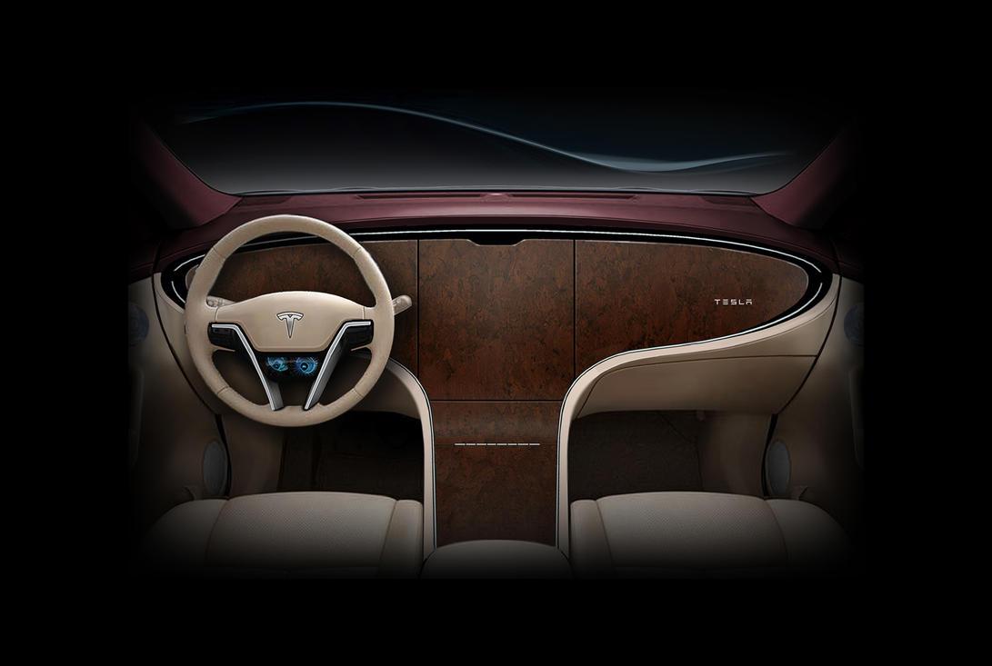 Tesla Model S or Model S Killer? interior by DejanHristov