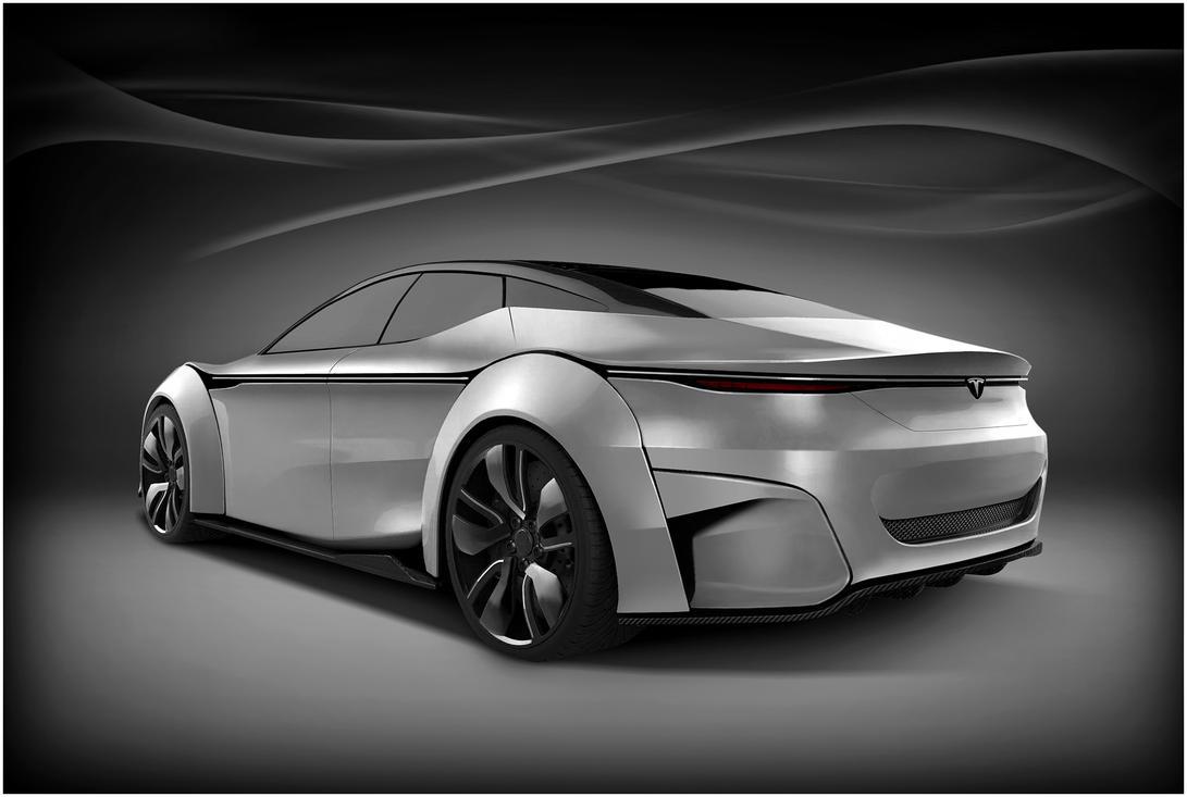 Tesla Model S or Model S Killer? rear by DejanHristov
