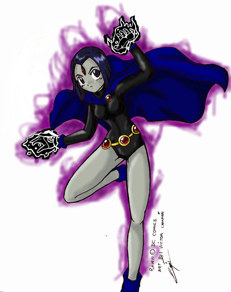 Raven from the Teen Titans by hao-asakura