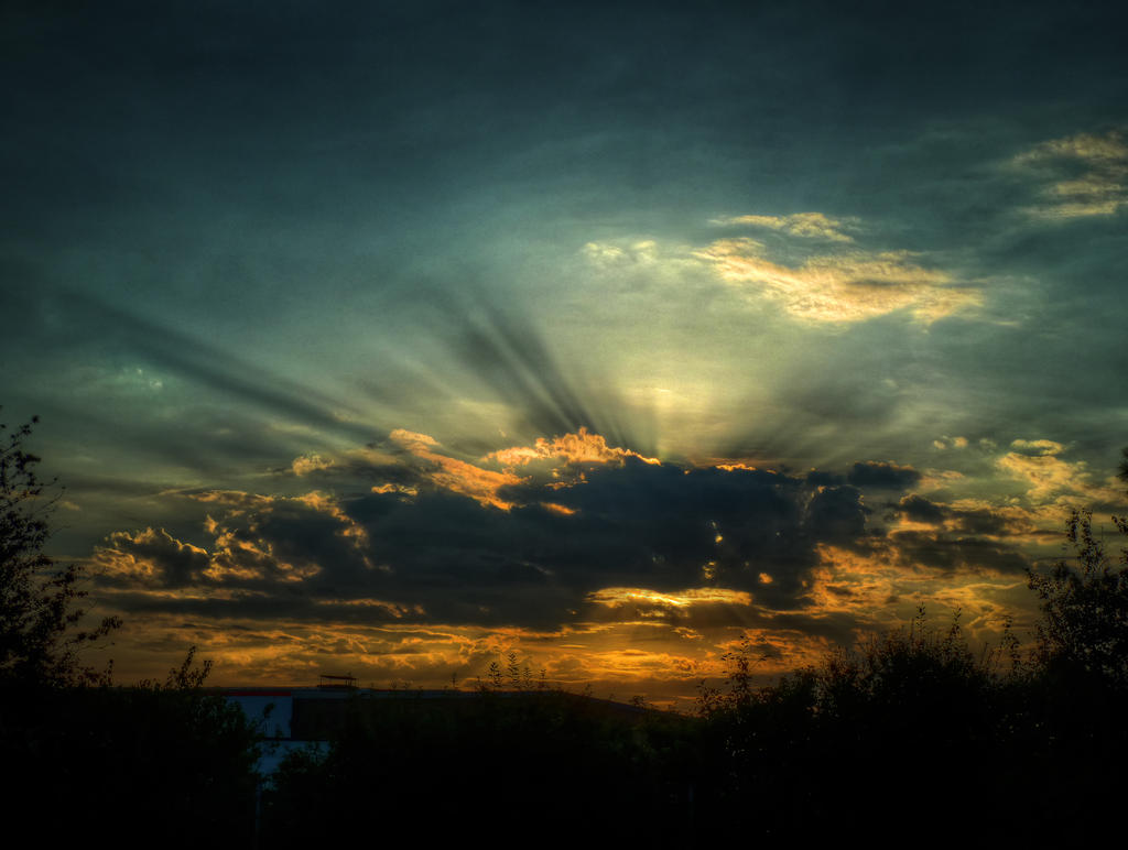Clouds No17 HDR by Risen-From-The-Ruins