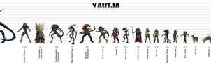 Yautja Size Chart - Expanded Universe