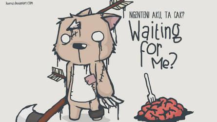Waiting for Me, lunch? by kaeruz