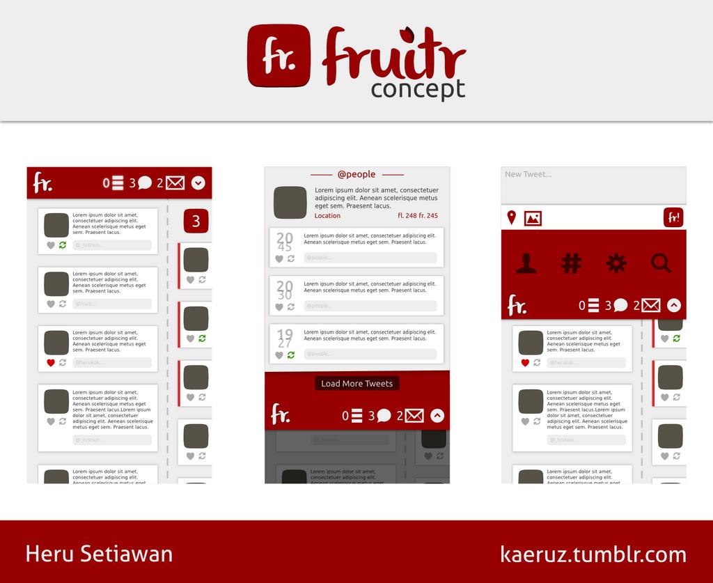 Fruitr - Ubuntu Phone Twitter Client Concept by kaeruz