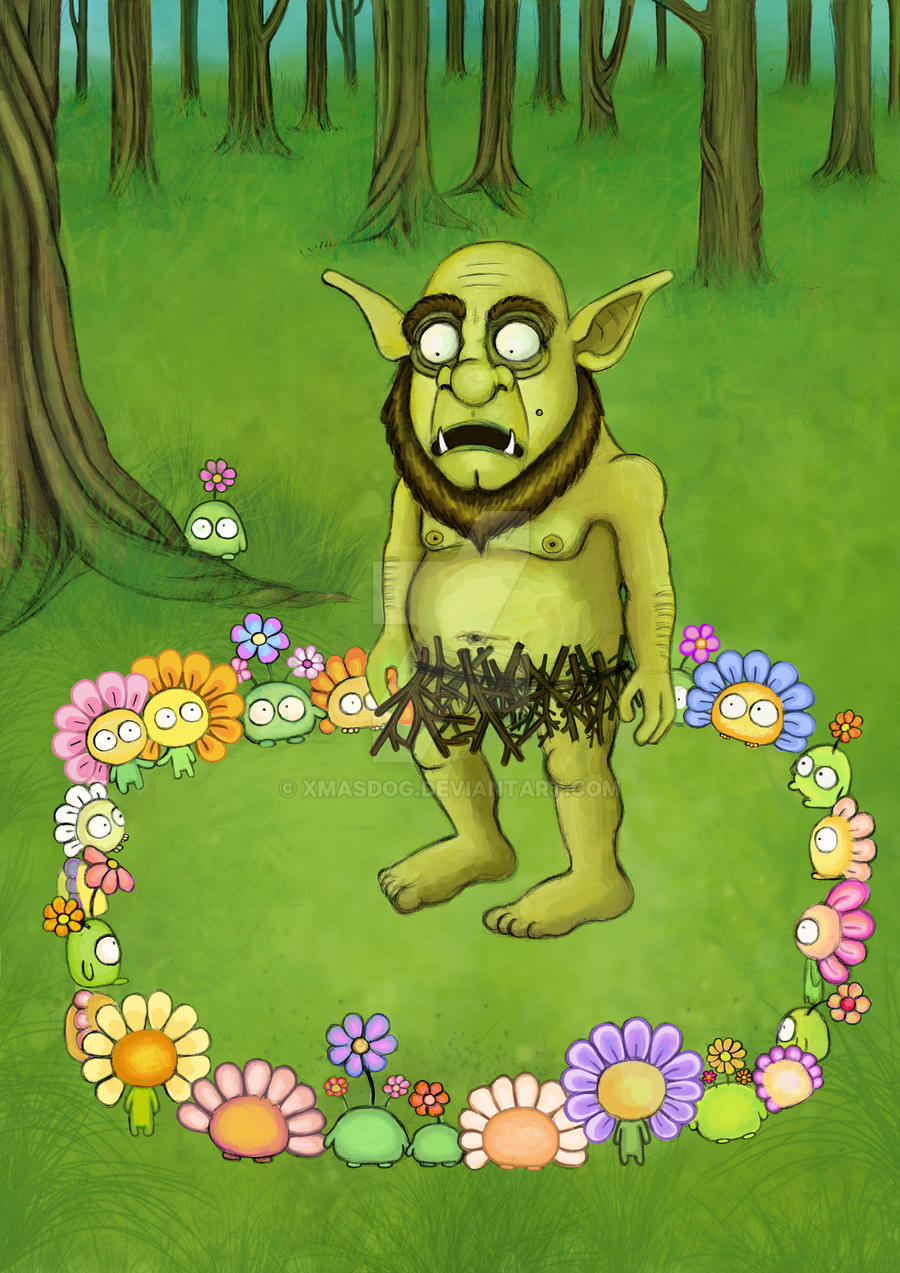 ogre and flower guys by xmasdog