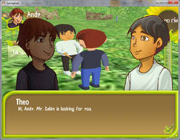 Springbud Screenshot - Talking to People