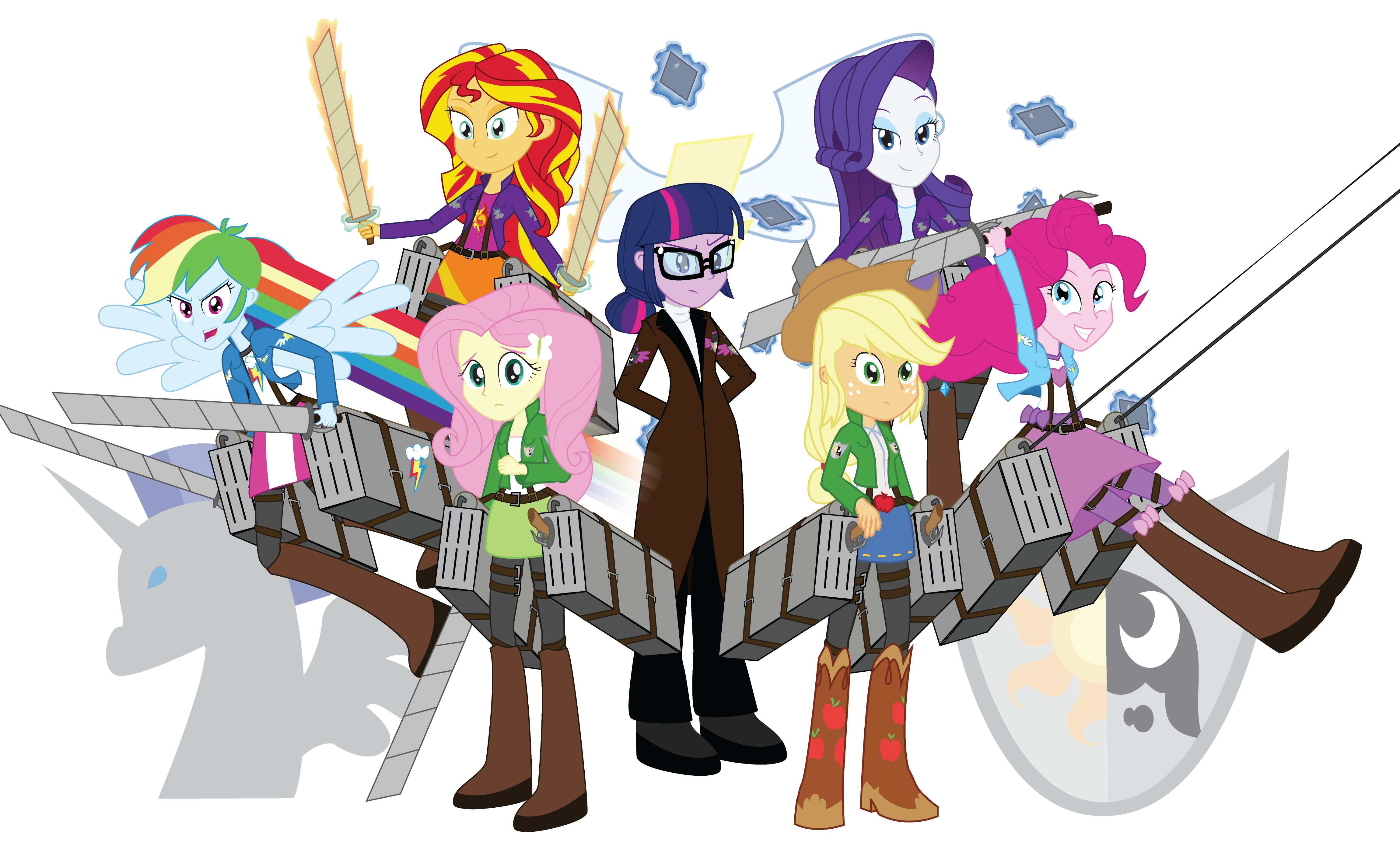 Attack on Equine: The Mane 7 by Amante56 on DeviantArt
