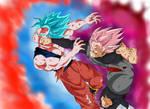 Goku SSB Kaioken vs Goku Black SSR