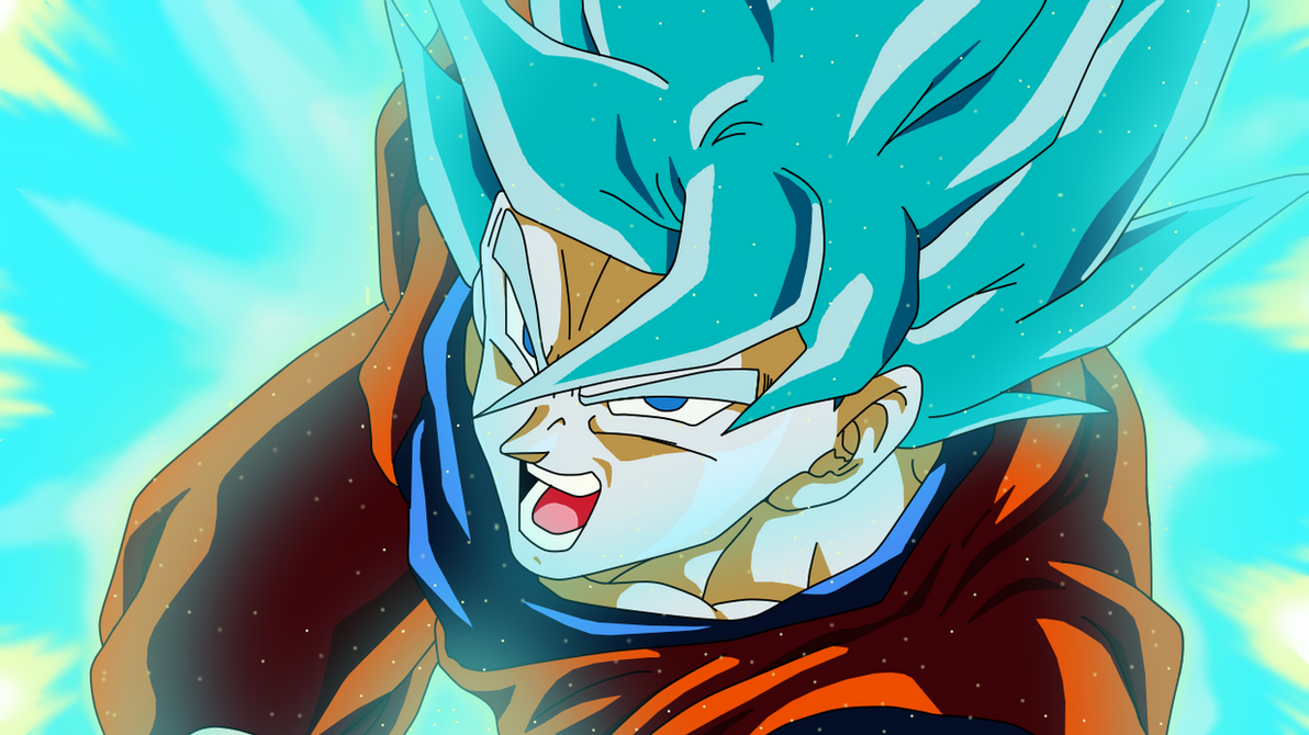 Goku Super Saiyan Blue Wallpaper By Teamsaiyanhd On Deviantart
