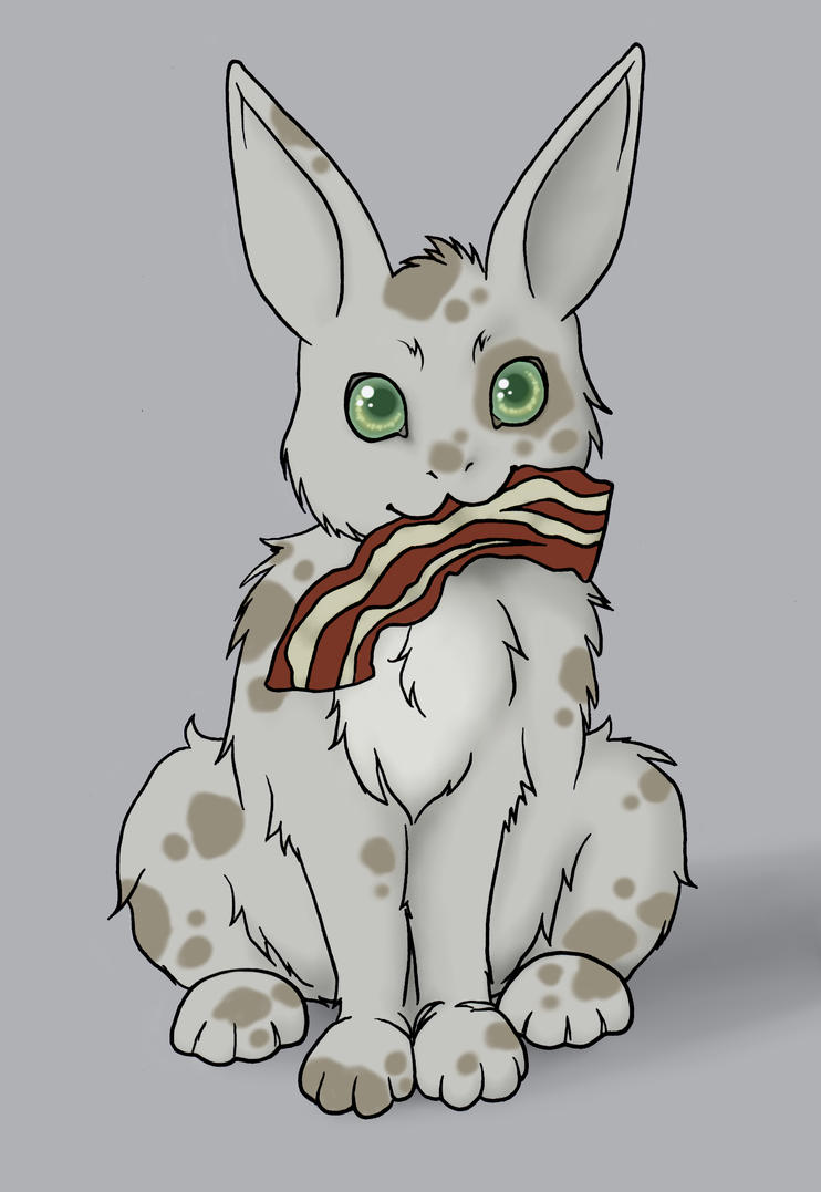 Mottled Bacon Bunny by SoriasTail