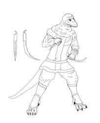 desert reptile sketch