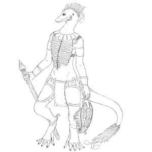 Pairo reptile sketch