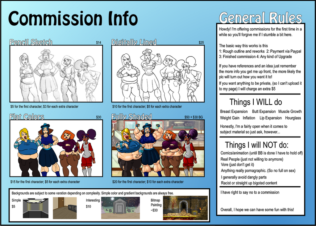 Commission Info Sheet by Golseum