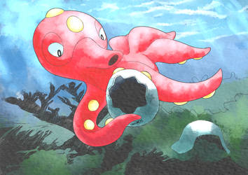 Octillery by chicoARTS