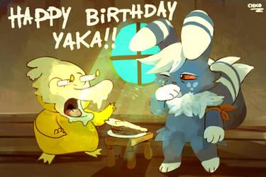 Happy Birthday, Furball! by chicoARTS