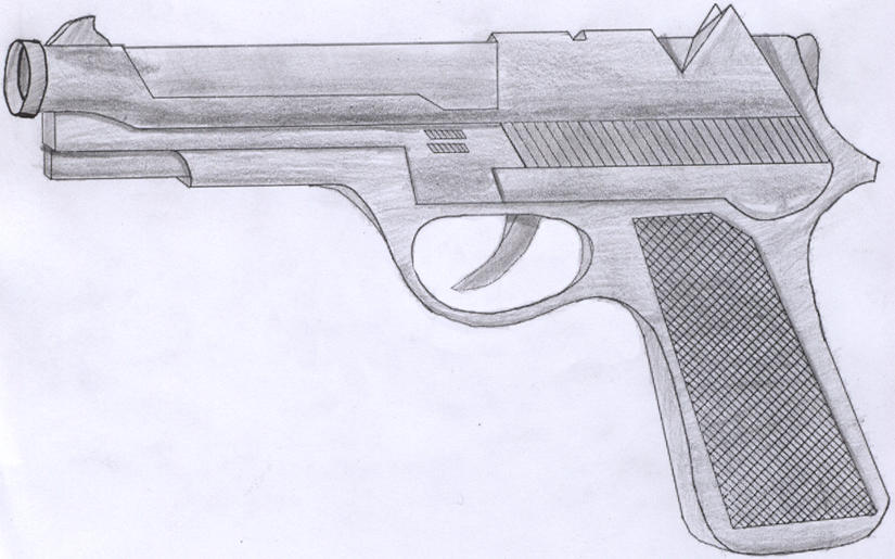 Gun Pencil Drawings Pistol Pencil Sketch825 x 515