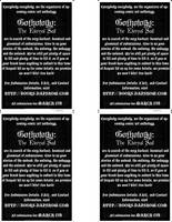GOTHOLOGY PRINT FLYER: BACK by Gothology