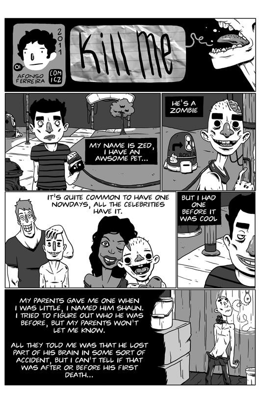 Kill Me, pg 1 by Gothology