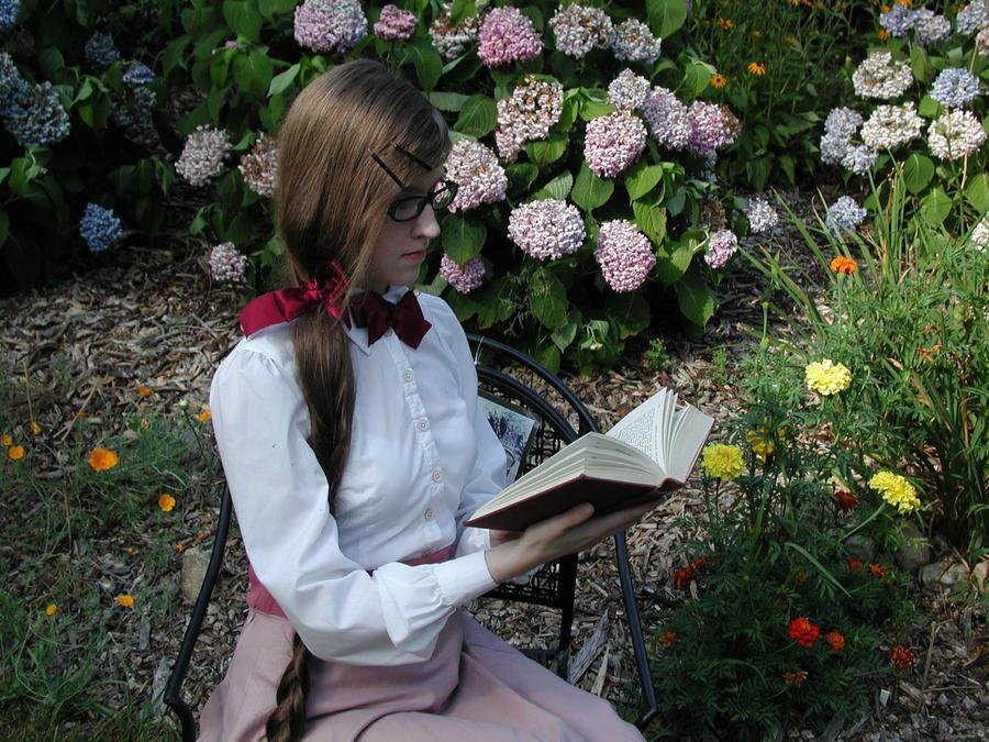 Reading In The Garden By Cakeaphobe On Deviantart